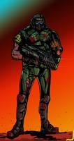 Doom Guy by JohnOsborne