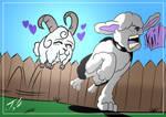 Barkley vs Scappy (Art by NAT) by Dkalban