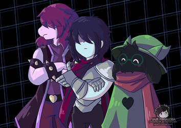 Three Heroes - Deltarune by JakeiArtwork