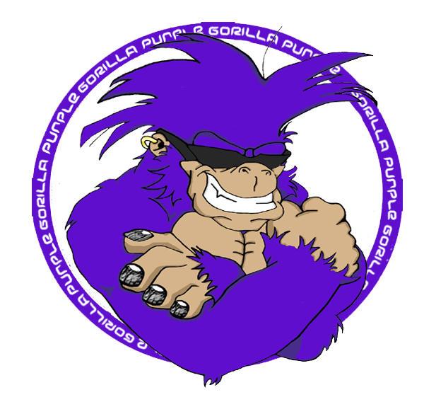 Purple Gorilla 2 Colored By Dopepencils On Deviantart