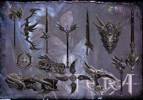 TERA Elleon weapon skins  by Tiffli