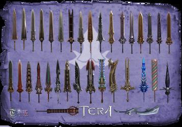 TERA Great Swords by MoF by Tiffli