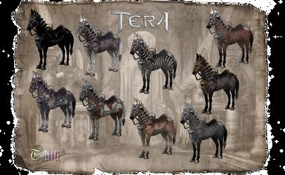TERA Horses Pack by MoF by Tiffli