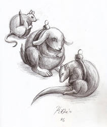 Animal Ornaments by KaySheep