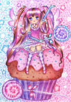 Cupcake and Sweeties by SilverChaim