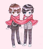 Sketchy Dan and Phil by SilverChaim