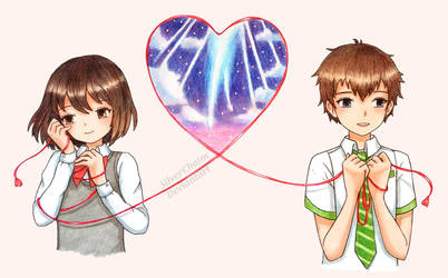 Mitsuha and Taki by SilverChaim
