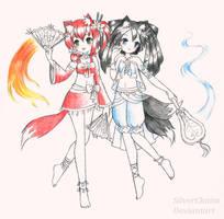 C: Aradia and Tamano by SilverChaim
