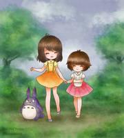 Totoro Kids by SilverChaim