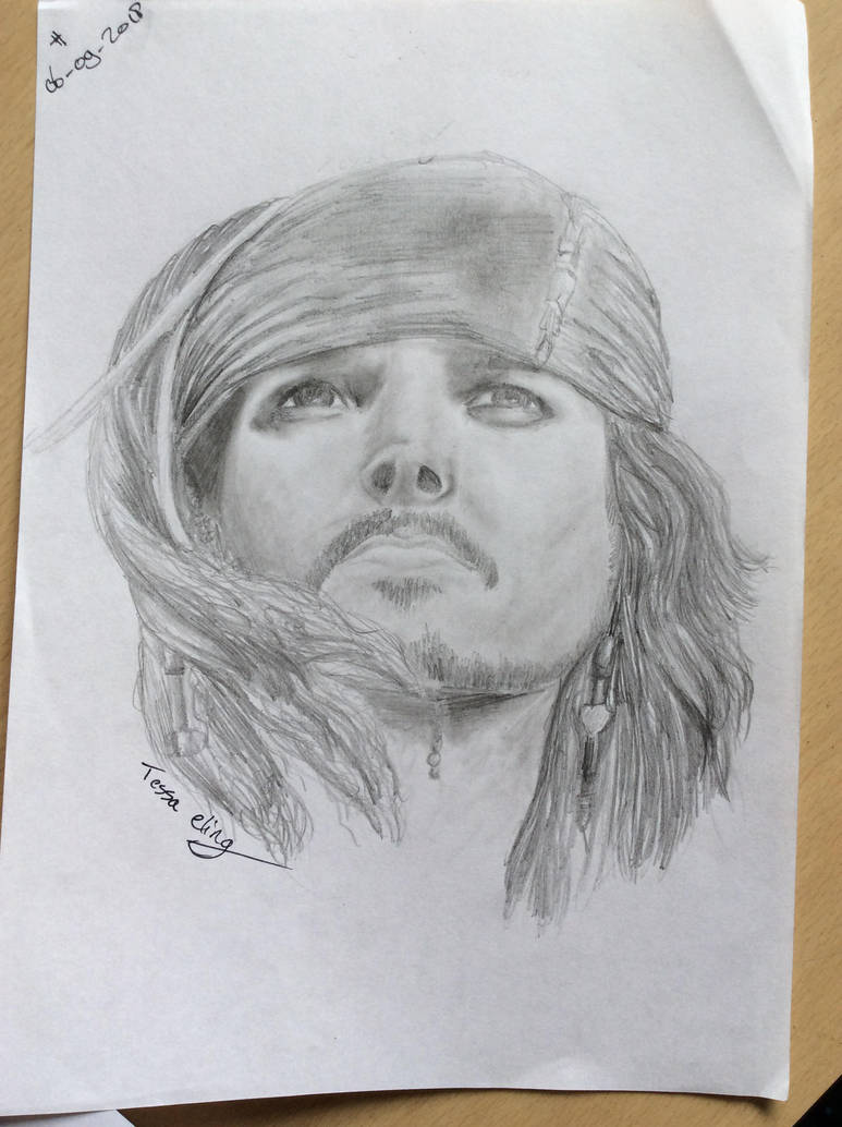 Johnny Depp drawn as CAPTAIN Jack Sparrow. by Dutchesz