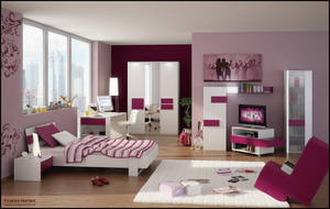 3D Teen Bedroom 1 by FEG
