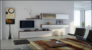 3D TV Room Set - 02 by FEG
