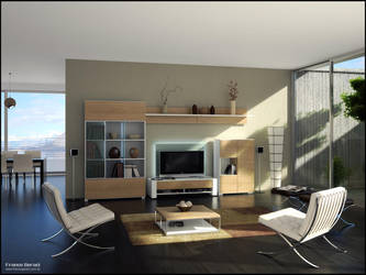 3D TV Roomset 5 by FEG