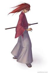 Himura Kenshin by paintpixel