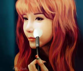 Portrait of Park Bom (2NE1) by PeterPan-Syndrome