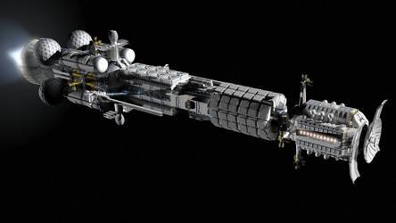 Space battle cruiser...again... by Do-Mo