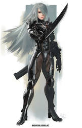 A2 X Raiden Crossover Commission by OverlordJC
