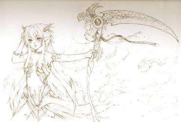 -Scarlet Devil- Sketch by white-angel-ariah