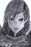 Female Shepard by YunaAnn