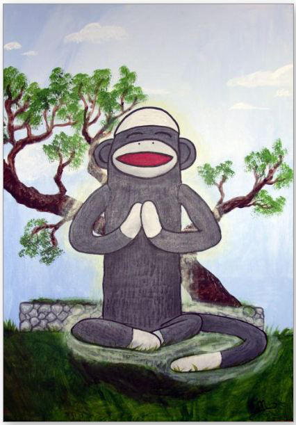 Sock monkey nirvanna by ChaotikCat84