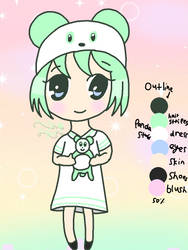 My mint panda child! by MintyMagic74