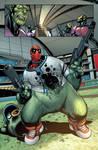 Deadpool 1 page 7 color by ElVlasco