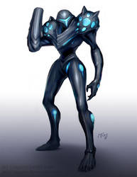 Dark Samus by Lagunis