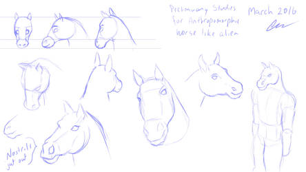 HorseAlien01 by Blackmanic