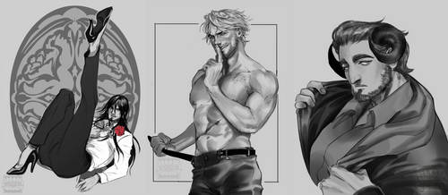 Some sketch comms from the current batch by ViciousJay