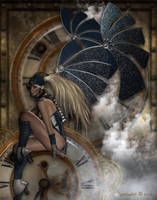 Steampunk Time Traveler by Kachinadoll