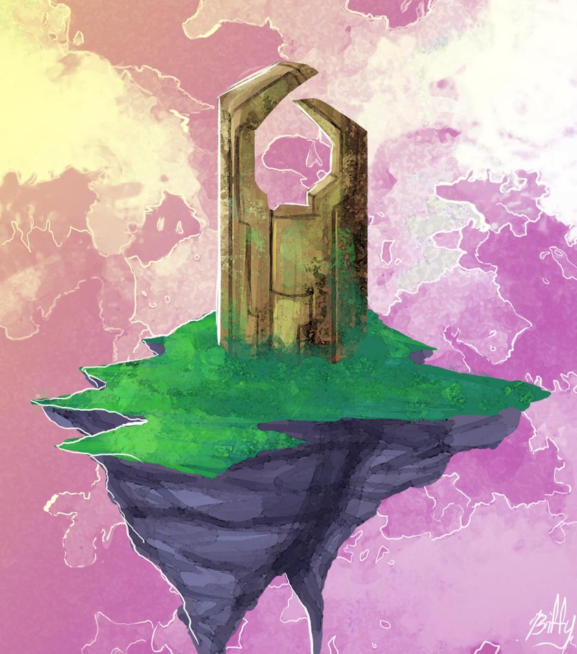 Sky Island Citadel by VexyFate