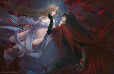 Final Fantasy 7: Vincent and Lucrecia by ZAKUGA