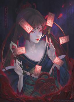 Flower of Death: Shikigami Higanbana by ZAKUGA