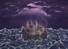 Castle On Sea by LorenzacX