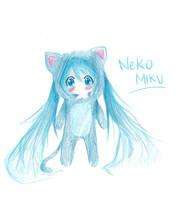 Neko Miku by panako