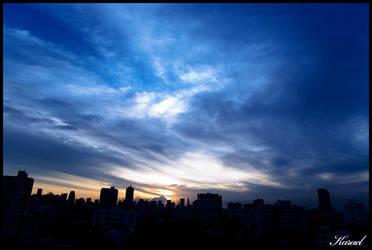 Bangkok Sunset by karaelkun