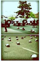 waiting for demonstrators by tukaka