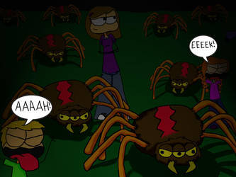 spiders by Jenn-Hall