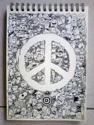 PEACE Doodles by kerbyrosanes