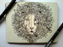MOLESKINE DOODLES: The King's Awakening by kerbyrosanes