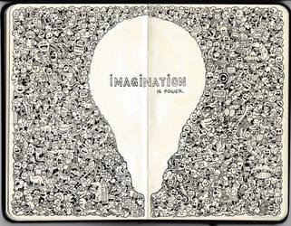 MOLESKINE DOODLES: Imagination is Power by kerbyrosanes