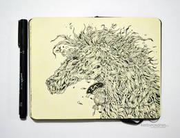 MOLESKINE DOODLES: Wood Horse by kerbyrosanes
