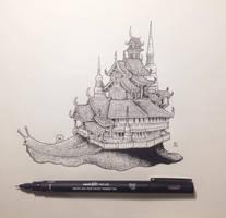Snail Temple by kerbyrosanes