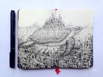 MOLESKINE DOODLES: Lost City by kerbyrosanes