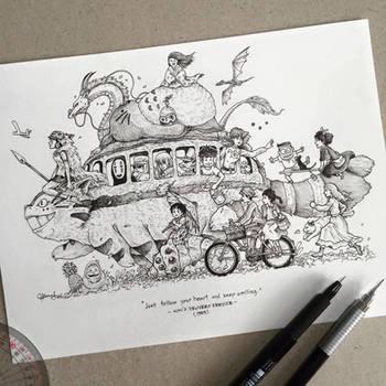 Roadtrip (Ghibli Style) by kerbyrosanes