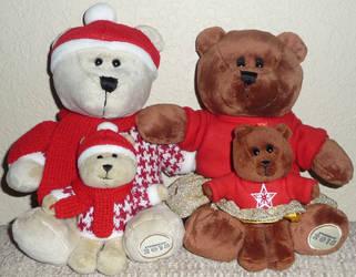 Christmas Bear Family by Sailor-girl1234