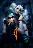 Harley Quinn and the Joker by xwickedgames