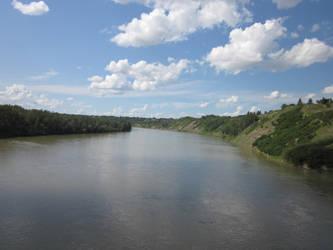Cloudy River by Trip-Artist