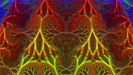 Fractal Net of Jewels by Trip-Artist