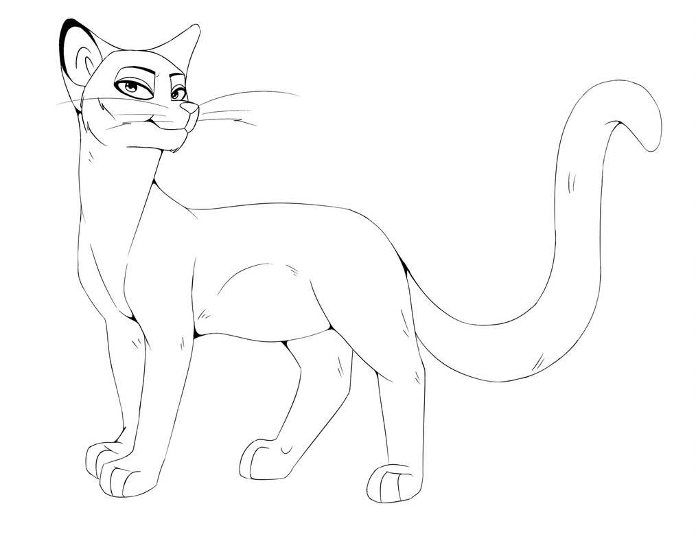 Free To Use Cat Line Art By Anubis Hound On Deviantart